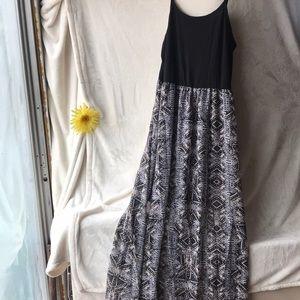 maxi dress with shorter slip underneath